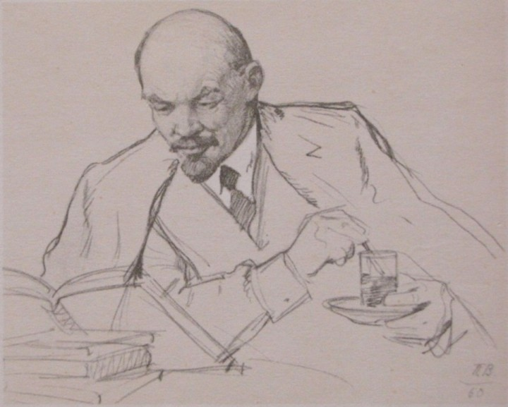 22-piotr-vasiliev-1899-1975-tea-with-lenin-1960