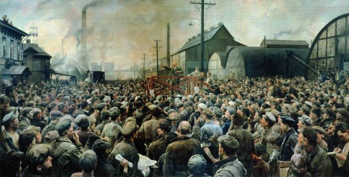 29-kentriki-isaak-izrailevich-brodsky-1884-1939-may-1917-lenins-speech-to-the-workers-of-the-putilov-factory-petrograd-1929