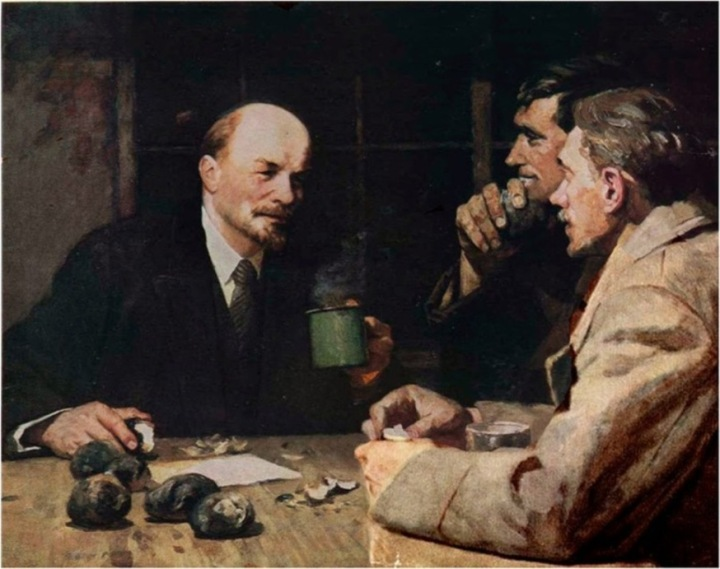 6-yuri-belov-1929-lenin-with-putilov-workers-28-10-1917-1964