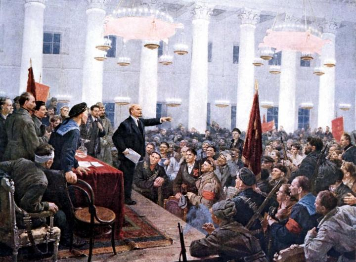 8-unknown-artist-lenin-second-all-russian-congress-of-soviets-petrograd-november8
